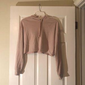 Cropped pink hoodie